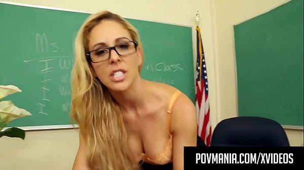 Sexy Milf Teacher Cherie Deville Wraps Her Lips Around Cock!