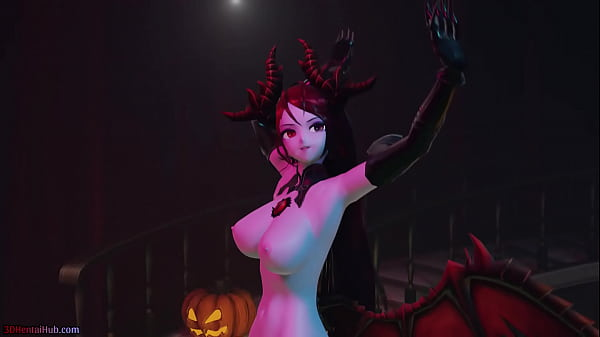 [MMD] Halloween Special! Succubus dances for you and fucks her slaves (NSFW version)