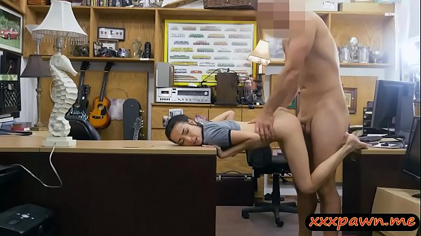 Tight babe screwed by nasty pawn keeper in his office