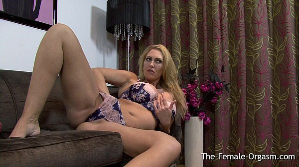 Big Breasted British MILF Masturbating Her Meaty Pussy to Orgasm