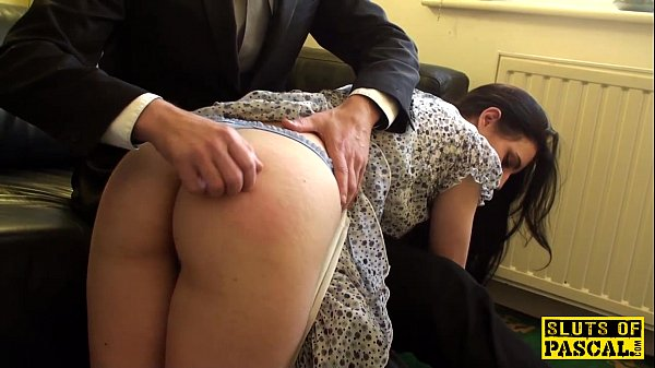 Spanked british sub riding maledoms cock Thumb