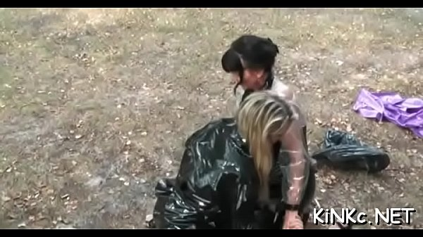 Hot femdom action with stunning chick walking slave on leash Thumb