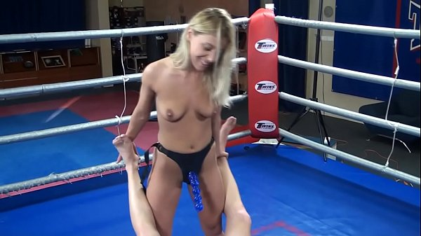 Nikky Thorne vs. Peter - nude erotic mixed wrestling humiliation strapon