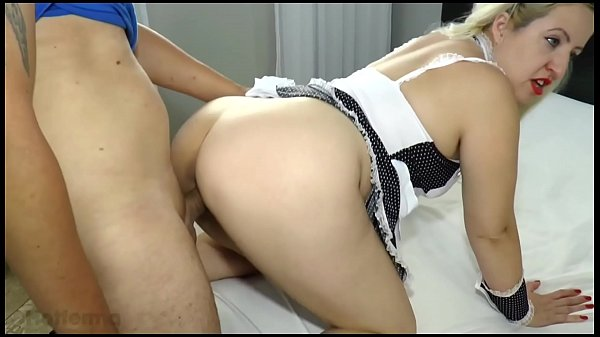 Hot maid fucks with boss while boss goes to the mall