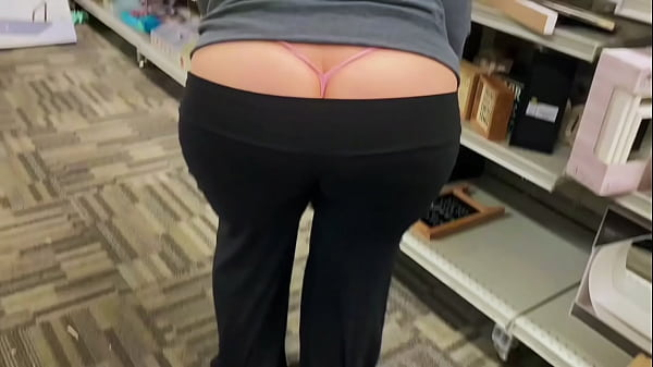 Mom Out In Public Shopping with a Fat Booty Whale Tail Thumb