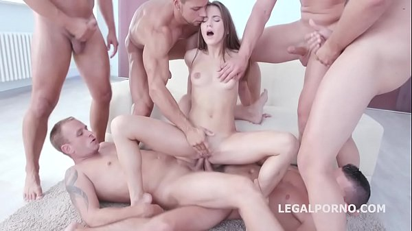 9on1 Double Anal Gang Bang with SUPER Nympho Ev...