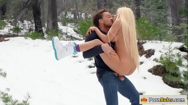 Gf riding her guys dick in the snow Thumb
