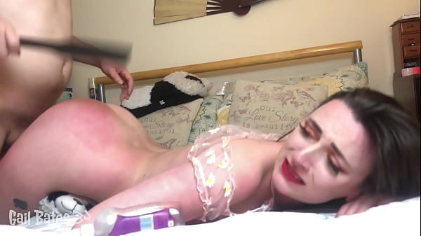 Preview: Throat fucked paddled and fucked hard by Daddy in BDSM rough sex