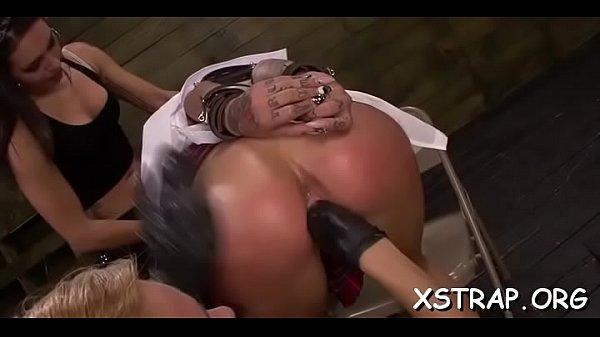 Wild servitude thrills seductive brunette