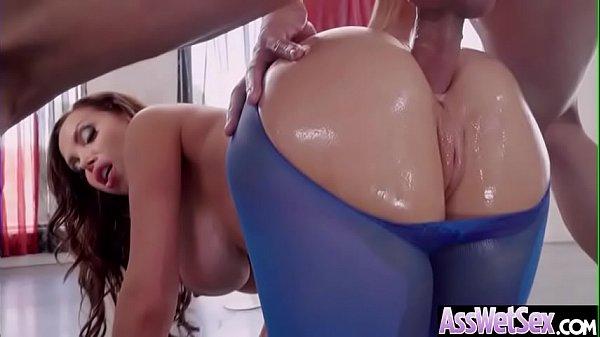Anal Hardcore Sex With Big Round Oiled Ass Slut Girl (Nikki Benz) clip-24