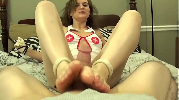Nurse Tied Up and Forced To Give Footjob Thumb