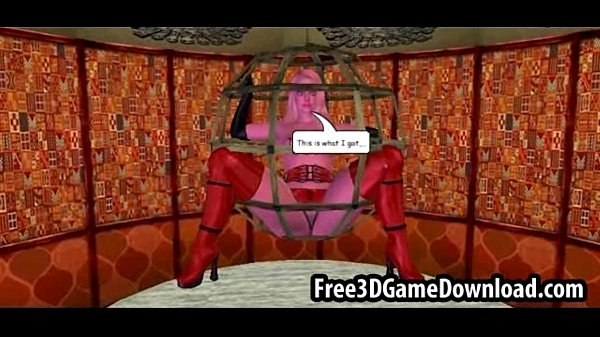 BDSM action between a sexy 3d cartoon blonde babe and her friend  thumbnail