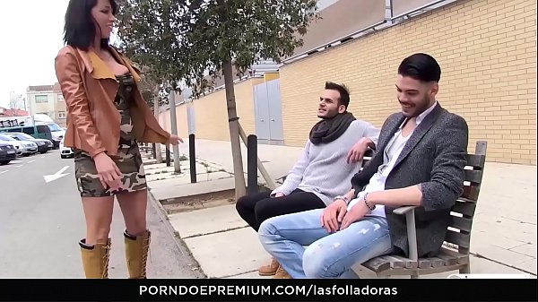 LAS FOLLADORAS - Sexy Spanish MILF Suhaila Hard rides amateur cock in steamy pickup and fuck Thumb