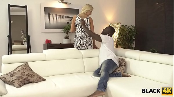 BLACK4K. Blonde girl knows huge dick can't be replaced by a vibrator Thumb