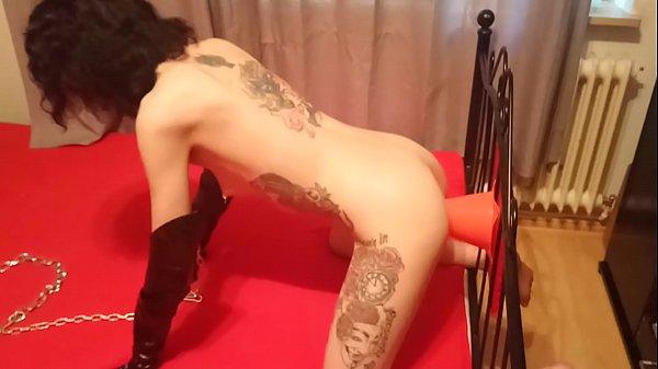Lucy Ravenblood slave training traffic cone fucking Thumb