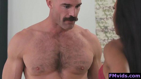 Demi Sutra ebony babe sucking hard cock
