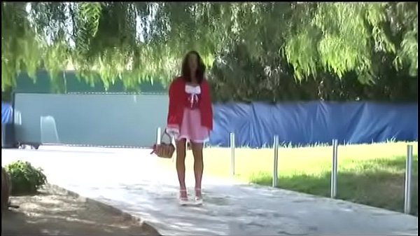 Sexy Red Riding Hood throws a basket with cakes and fucks with two black wolves in all holes