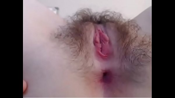 close view of hairy pussy