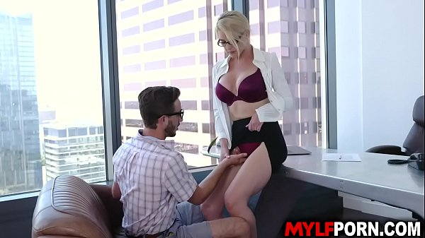 Hot and gorgeous principal Kit Mercer called this handsome student Lucas Frost and let him fucked her hungry MILF pussy inside her office. Thumb