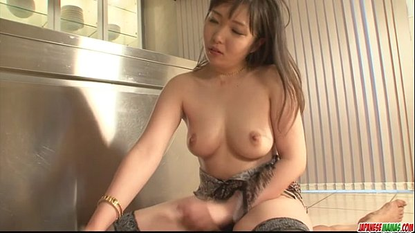 Cute Haruka Oosawa in lingerie sucking dick