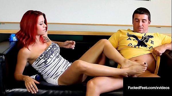 Cock stroking Catherine Foxx Foot Fucks Hard Cock John! Thumb