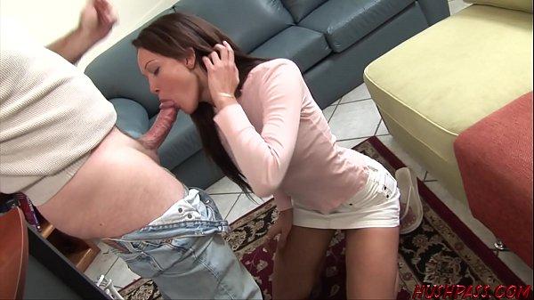 Teen girl fucked and swallows 4 cumshots