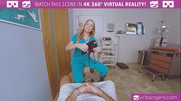 VRBangers.com-Busty Nurse seducing you to fuck her at the sperm bank