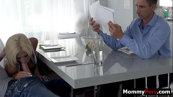 Step mom gives son blowjob next to his busy dad Thumb