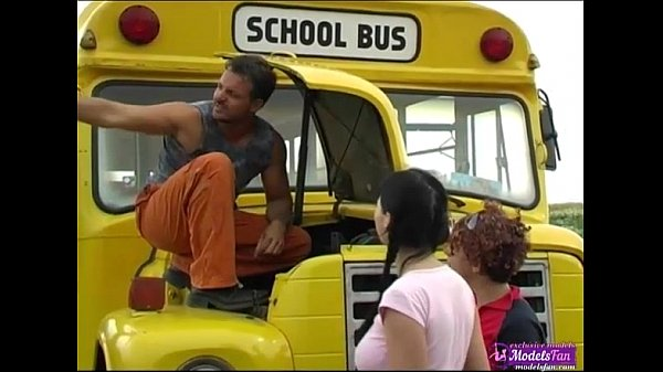 Two young schoolgirls fucking lucky bus driver