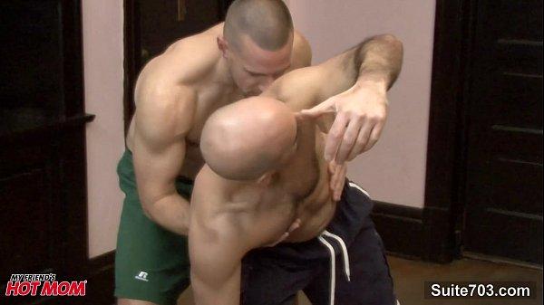 Bald jocks banging asses