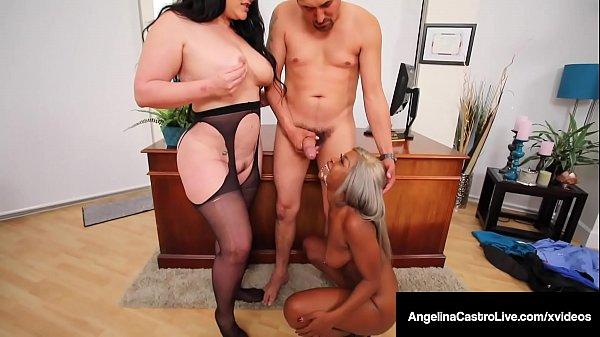 Big Butt Babes Angelina Castro & Harmonie Marquis Milk Cock! Thumb