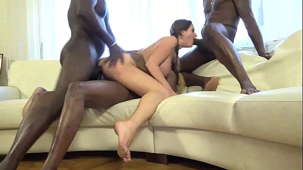 Cathy Heaven Gets Gangbagged In Her Poor Little Asshole By A Bunch Of Horny Black Men