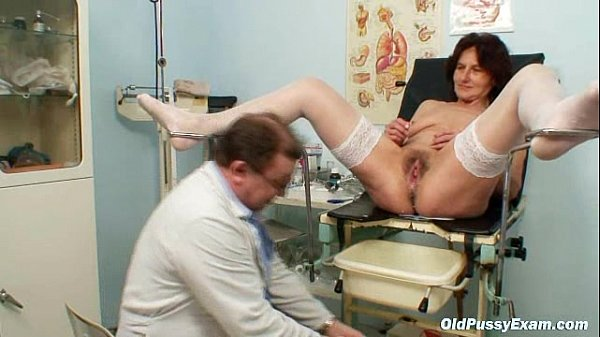 Hairy pussy grandma visits pervy woman doctor Thumb