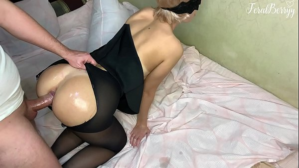 Stepfather after school roughly fucked his stepdaughter FeralBerryy in ANAL tearing her pantyhose Thumb