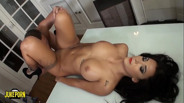 Brunette with big tits fucks at home like crazy Thumb