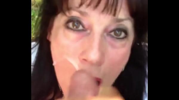 Mature woman takes a facial Thumb