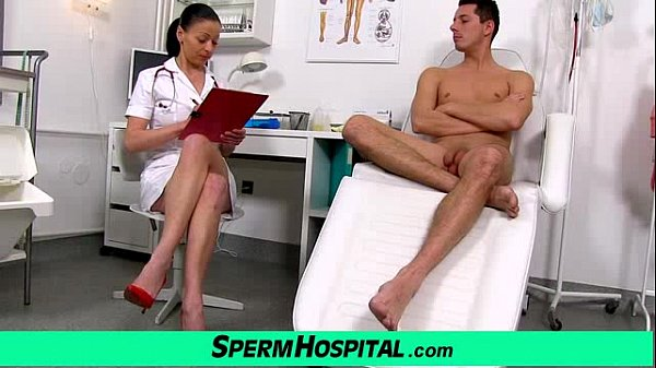 Czech milf doctor Renate mom with boy hospital sperm extraction Thumb