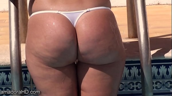 Wicked Weasel thong ass playing in the pool Thumb