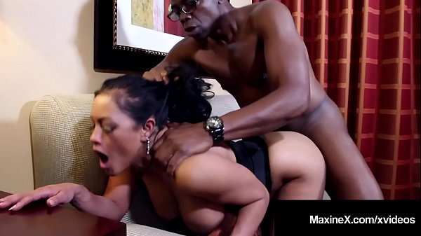 Cambodian Cougar MaxineX Dark Dicked By Big Black Cock! Thumb