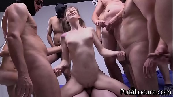 10 cumshots in the pussy of the Spanish Denise, Creampie Gangbang Thumb