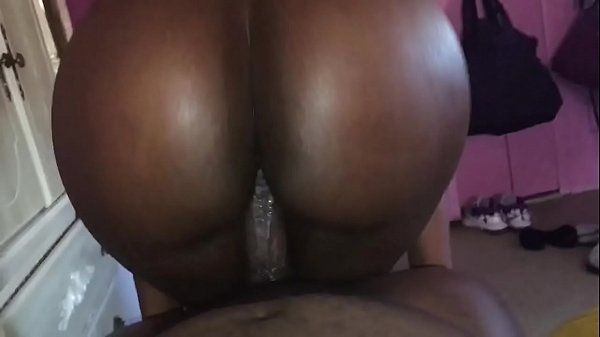 Amateur ebony ass riding a dick