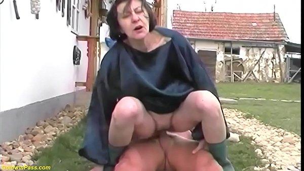 extreme ugly grandma fucks grandson outdoor