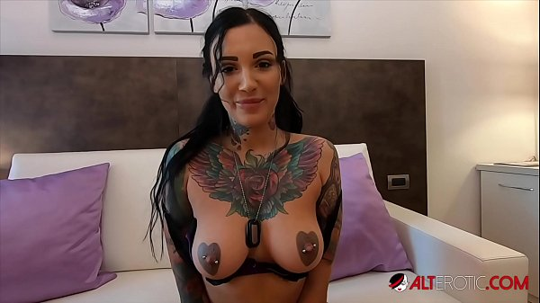Busty tattooed Adel Asanti has her holes stretched wide Thumb