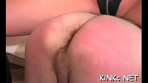 Kinky mistress foot bonks slave's ass hard and gets dildoded