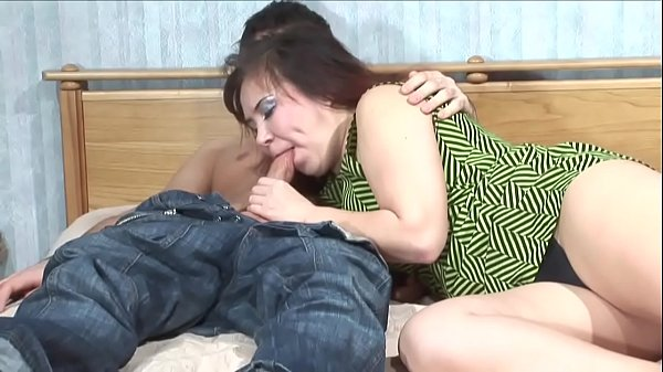 Shenythia - chubby russian milf fucks young boy in bedroom