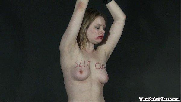Lesbian humiliation and bizarre lezdom bondage of blonde Amber in femdom bdsm Thumb