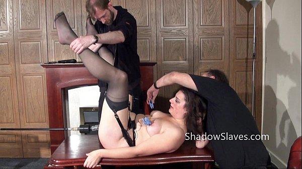 Amateur slave Jannas kinky fetish and bizarre machine fucking and pussy punished Thumb