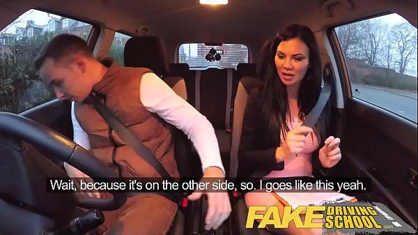 Fake Driving School exam failure ends in threesome... thumbnail