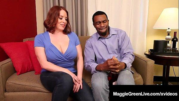 Super Big Tits Maggie Green Fucks Big Black Cock Rome Major! Thumb
