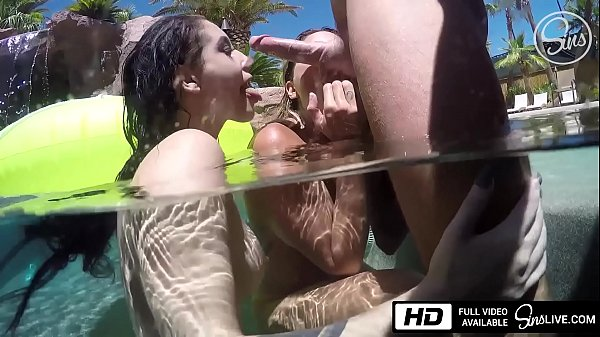 Noelle Easton and Kissa Sins Are All Wet for Johnny Sins